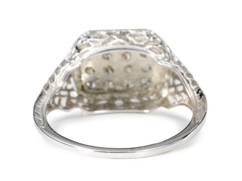 Diamond Tableau in a White Gold Ring