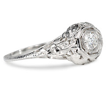 Soaring Birds - Antique Diamond Ring