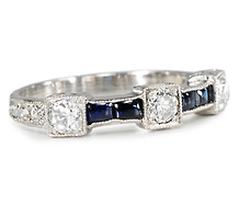 The Glitter Variety - Sapphire Diamond Eternity Band