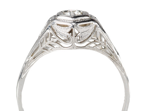 Solitaire Heaven in an Art Deco Diamond Ring