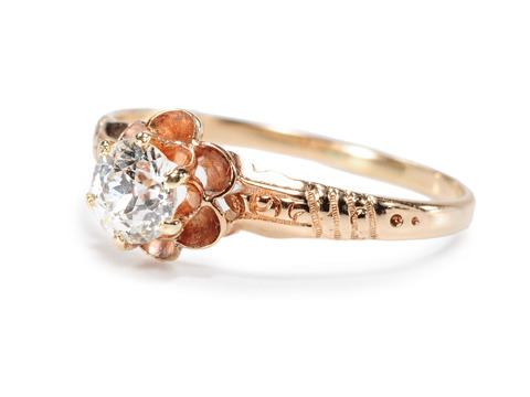 Buttercup Setting in an Edwardian Diamond Ring