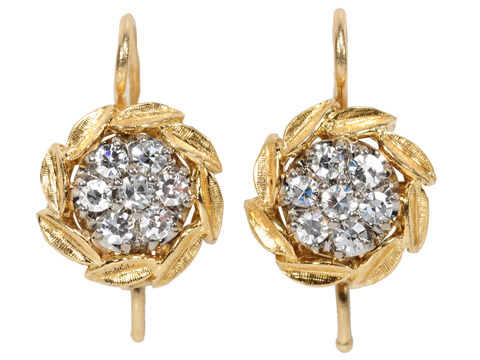 Fabulous Jabel Diamond Cluster Earrings