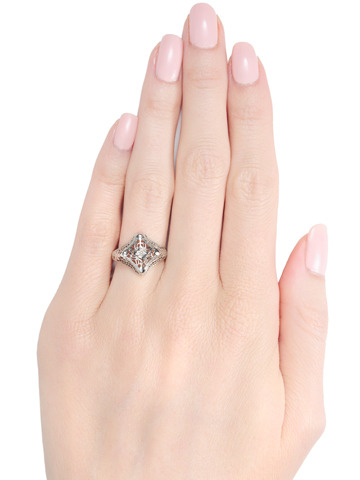 J.R. Wood Diamond Filigree Ring