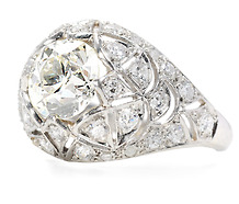 Domed Wonder:  2.10 ct. Diamond Bombé Ring