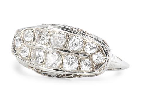 Grand Gesture in an Art Deco Diamond Ring