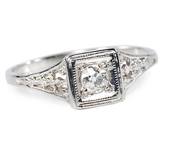 Feminine Flair: Art Deco Diamond Ring