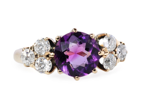 Victorian Royal: Amethyst Diamond Ring