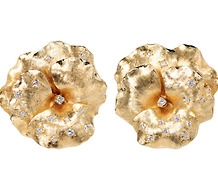 Spring Delight: Diamond Pansy Earrings