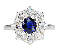 Midnight Sky: Diamond Cluster Ring