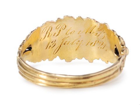 "Scarce Dated Georgian Acrostic ""REGARD"" Ring"