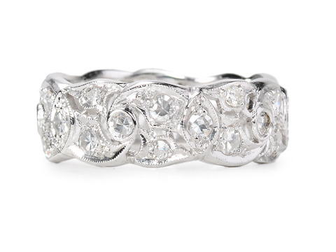 Diamond Rhythm - Platinum Wedding Band