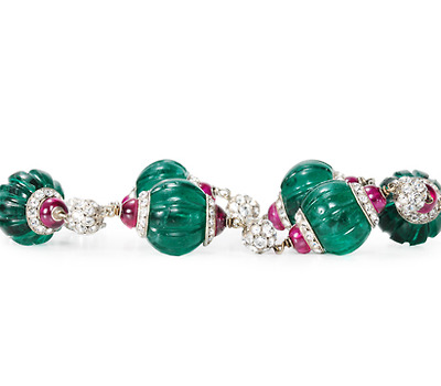 Double Take: Art Deco Paste Jeweled Bracelet