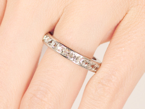 Aglow! Antique French Cut Full Eternity Ring