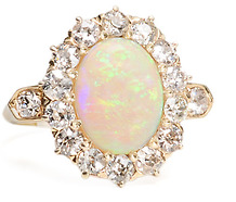 Opalescent Dreams - Antique Opal Cluster Ring