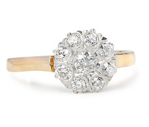 Art Deco Bonanza: Diamond Cluster Ring