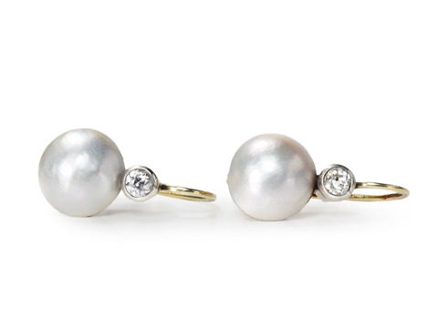 Always: Pearl Diamond Earrings
