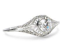 Edwardian Essence: Solitaire Diamond Ring
