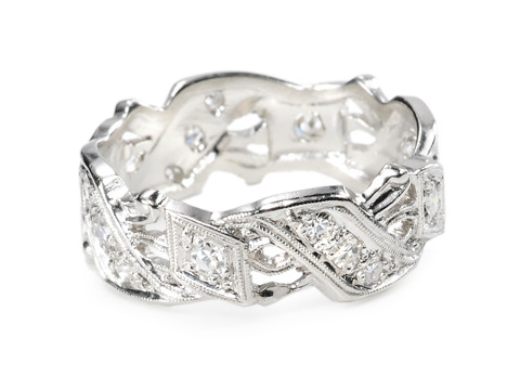 Diamond & Platinum Full Eternity Band