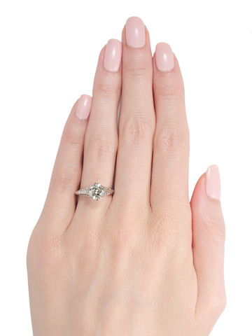 Daring 1.54 c. Solitaire Diamond Ring