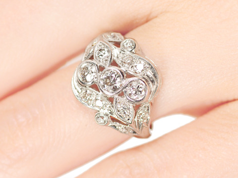 Grand Diamond Platinum Cocktail Ring