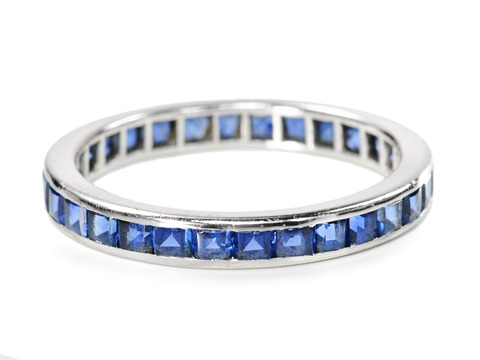 Incomparable Tiffany Sapphire Eternity Ring