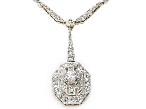 Exceptional Art Deco Pendant Necklace