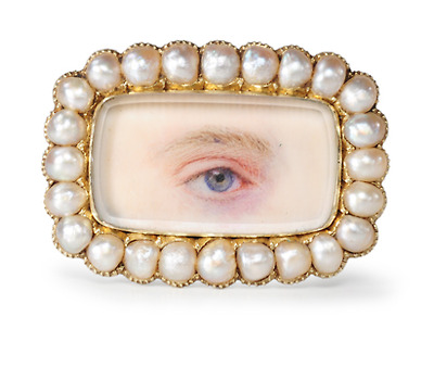 Look Deeply: Antique Lover's Eye Brooch