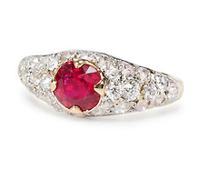 Stunning No Heat Ruby Diamond Ring