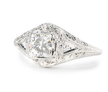 Bit of Heaven: Diamond Platinum Ring