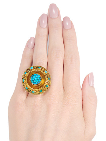 Transformed: Antique Revival Turquoise Ring
