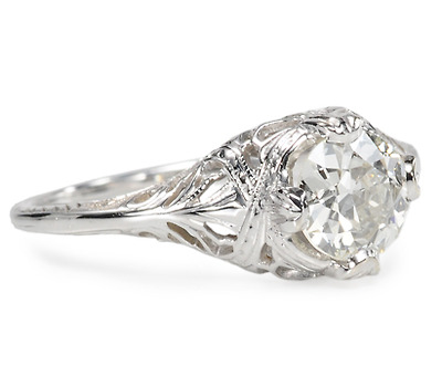 Serenity in an Art Deco Solitaire Ring