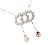Inevitably French: Art Deco Diamond & Pearl Necklace