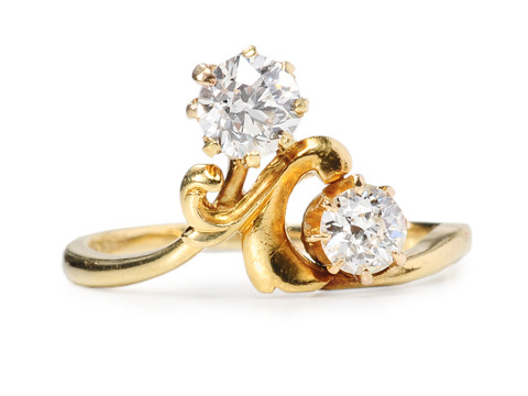 Regal Diamond Crossover Ring