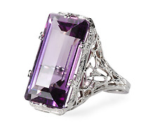 Delightful Art Deco Amethyst Ring