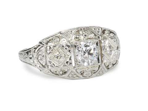 A Charm: Art Deco Diamond Ring