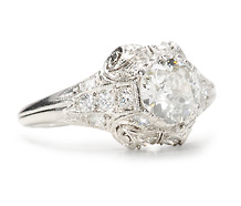 Rhapsody: Antique Diamond Engement Ring