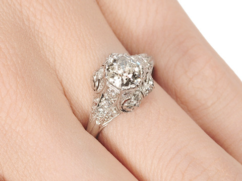 Rhapsody: Antique Diamond Engagement Ring
