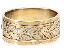 Silver Gilt Bangle Leaves