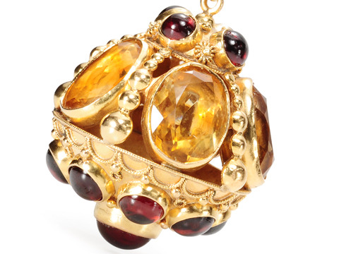 In the Renaissance Manner: Citrine Garnet Pendant