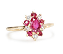 YG Ruby Diamond Ring