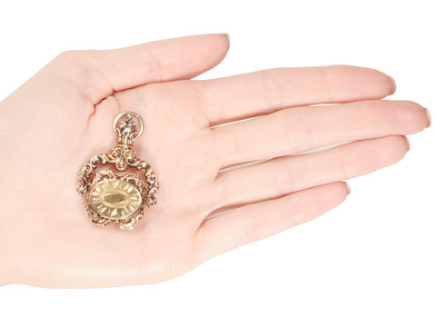 Victorian Double Locket Spinner Pendant