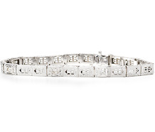 WG Line Bracelet 3 Diamonds