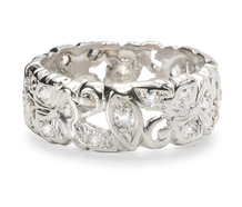 Plat Diamond Eternity Band Flowers