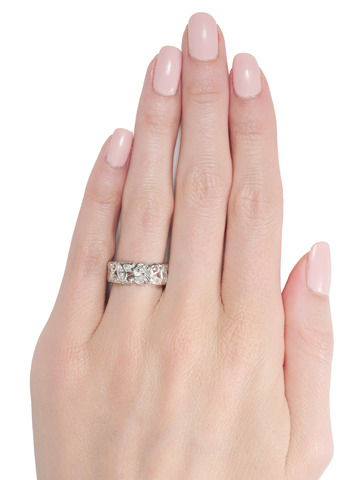 Forever More: Diamond Platinum Eternity Band
