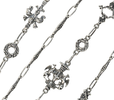 Luxury of an Italian Silver Chain Necklace