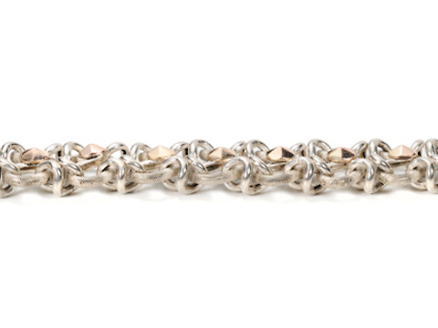 French Antique Rose Gold & Silver Bracelet