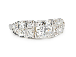 Diamonds Galore in an Art Deco Ring