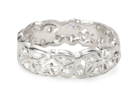 Flowers Forever: Platinum Eternity Ring