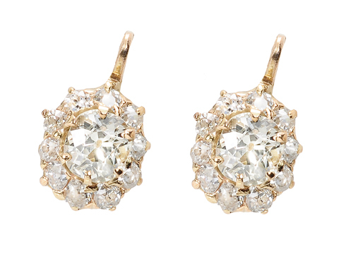 Resplendent Diamond Cluster Earrings