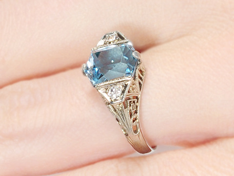 Fancy This: Aquamarine Diamond Ring